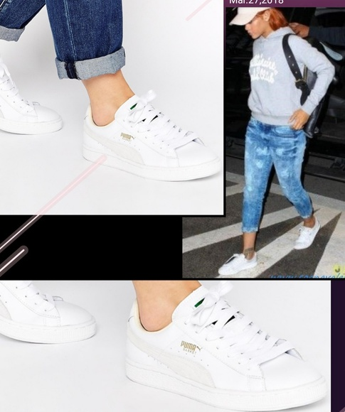 47dba422b88 Puma Shoes | White Basket Classic Lfs Womens | Poshmark
